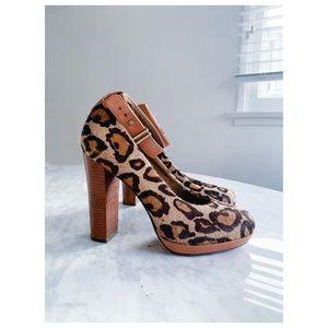 Sam Edelman Leopard Heels 8